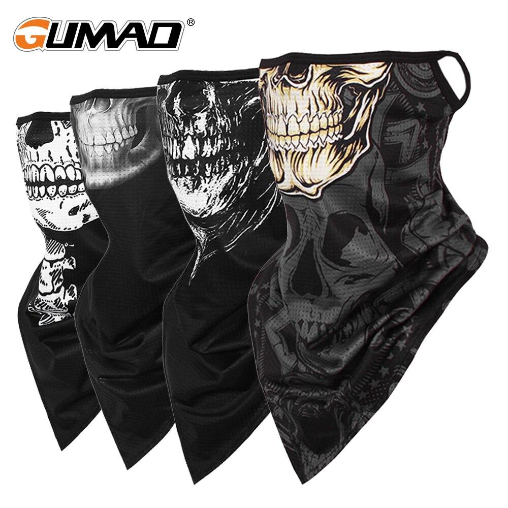 Sport Bandana Face Skull Mask Ice Silk Pipe Triangle Scarf Hanging ear Cycling Bike Fishing Neck Gaiter Cover Men Women Summer