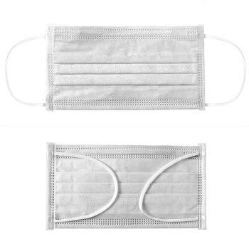 Маска 50/100 шт одноразовые антибактериальные и антивирусные одноразовые маски