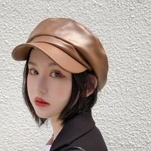 Элегантные однотонные вечерние женские зимние теплые шапки, женская шапка на осень и зиму, теплые модные одноцветные шапки sombrero#0