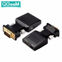 QGeeM VGA al Convertitore di HDMI Con Audio Full HD VGA a HDMI adattatore con Uscita Video 1080P HD per computer Portatile Del PC HDMI toVGA