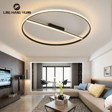 Modern Led Ceiling Light Black Aluminum alloy Ceiling Lamp for Living room Bedroom Dining room Kitchen Luminaire Round 110V 220V(China)