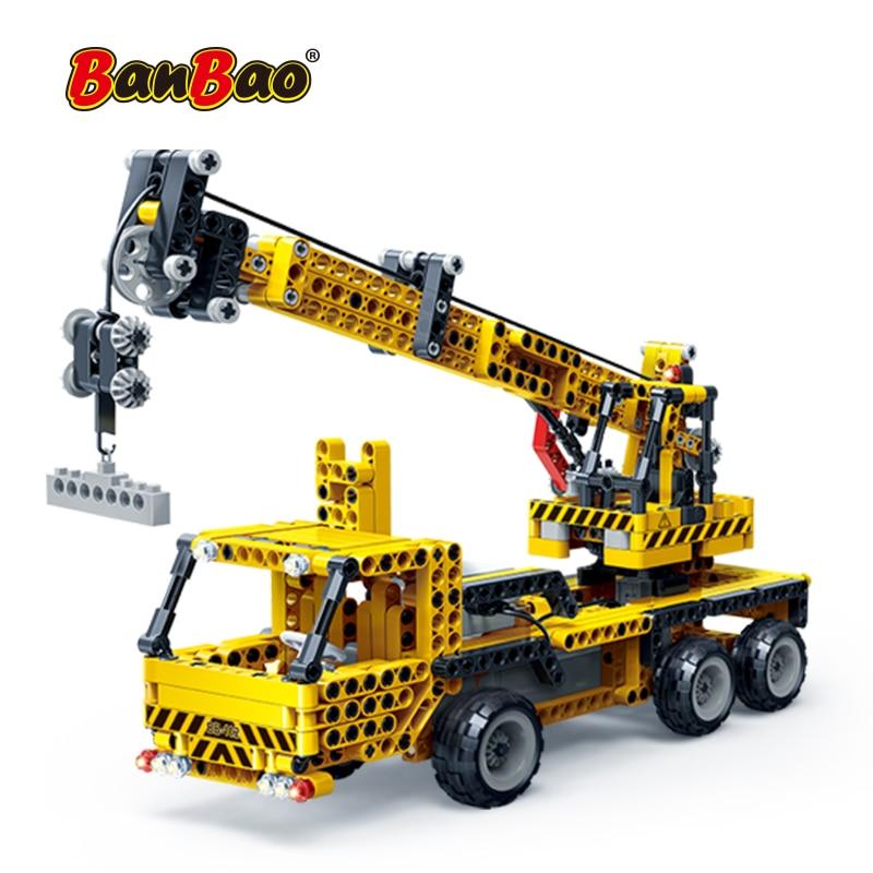 BanBao 6908 RC Engineering Excavator Crane Building Blocks
