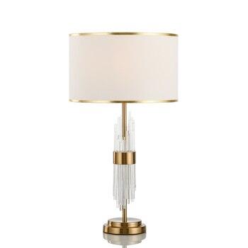 Post Modern Light Luxurious Desk Lamp European Crystal A Living Room Model House Modern Concise Bedroom Study Bedside