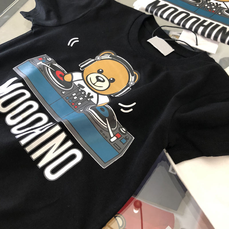 Fashion Boys Cartoon Bear Pattern Tees  Baby  Boys Cotton T Shirt  High Quality Children Clothes Boys Tshirt Kids Casual Tops