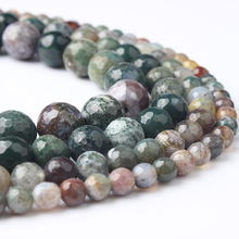 Linxiang Natural Jewelry Indian agate loose jewelry 4/6/8/10/12mm suitable for production DIY Bracelet Necklace