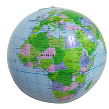 30cm Inflatable Globe World Earth Ocean Map Ball Geography Learning Educational Beach Ball Kids Geography Educational Supplies