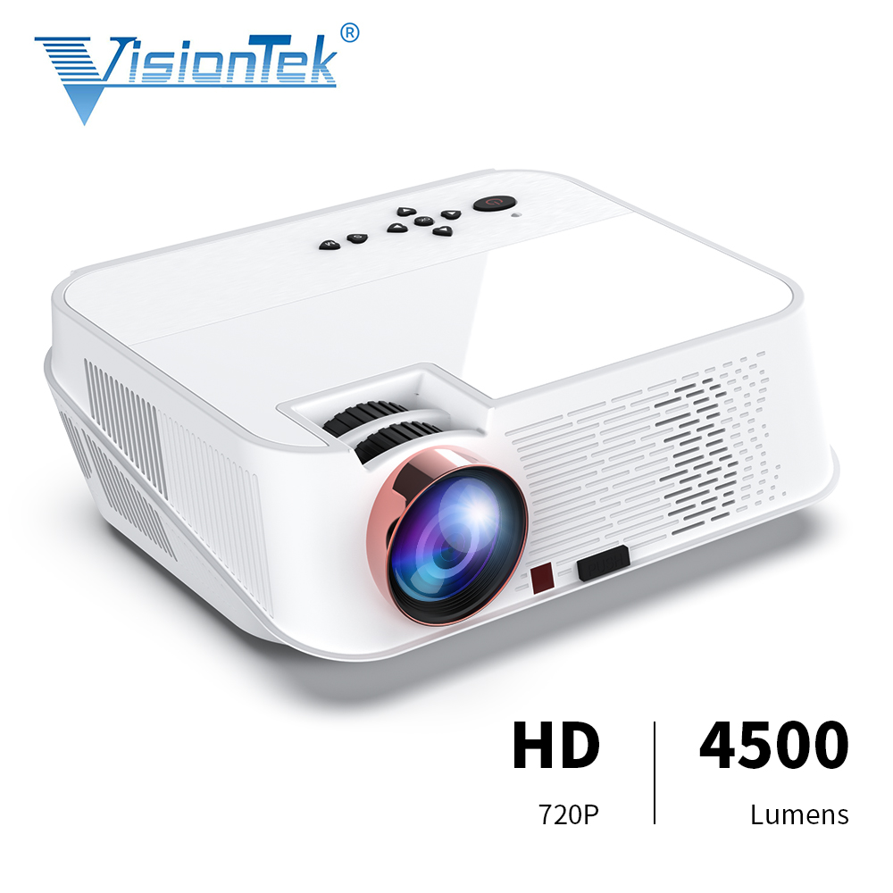 VISIONTEK Full <font><b>HD</b></font> <font><b>Projector</b></font> VS626, 1280*720P Support 1080P 4K Videos, LED Projetor For Home Theater Movie Beamer Proyector image
