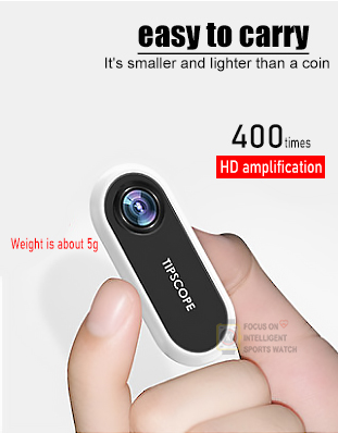 TIPSCOPE Portable Microscope 20X-400X Universal Electronic Microscope Camera Magnifier Magnification Lens for Android for iOS
