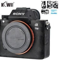 Kivi kamera vücut koruyucu cilt filmi kiti Sony A7 III A7R III A7III A7RIII A7M3 A7R3 Anti-Scratch 3M Sticker gölge siyah