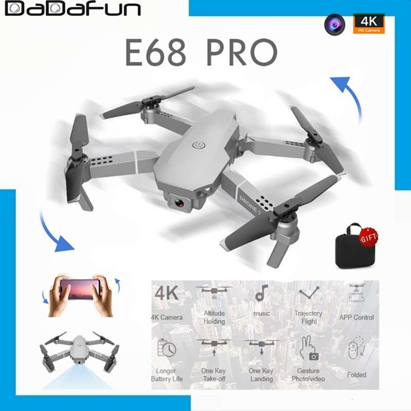 2020 E68 Pro Mini Drone HD 4K 1080P WiFi FPV Camera Drones Smart Height Hold Mode RC Foldable Quadcopter Drone Boy Toy Gifts