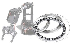 Image 2 - Arduino Robot 6 DOF Alluminio Morsetto Claw Mount Meccanico Braccio Robotico Servi Metallo Servo Horn con Ruota Flangia di Base 20% OFF