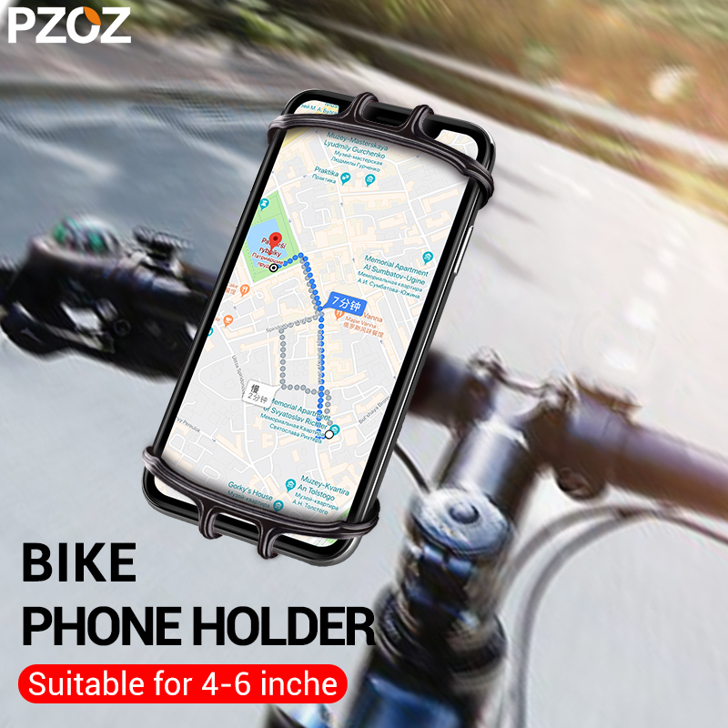 PZOZ Bike Phone Holder For Iphone Samsung Universal  Mobile Cell Phone Holder Bicycle Phone Holder Clip Stand GPS Mount Bracket