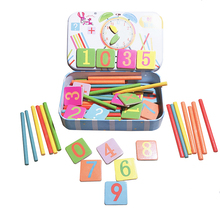 Baby Math Toy Wooden Stick Magnetic Mathematics Puzzle Education Number Toys Calculate Game Learning Counting Kids Gifts WJ544