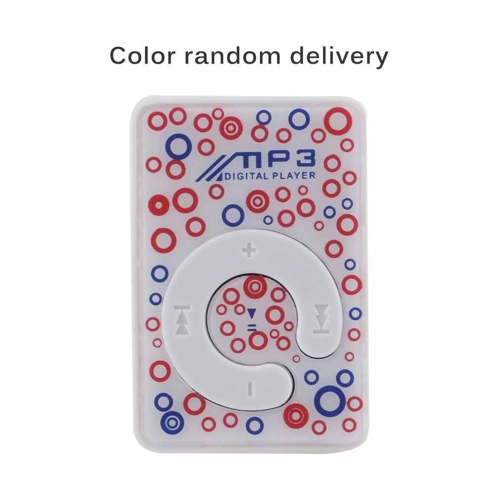 Mini Kích Thước Di Động KẸP USB MP3 Âm Nhạc Đa Phương Tiện Với Khe Thẻ TF Hỗ Trợ 1-8GB quà Tặng Sinh Nhật Màu Ngẫu Nhiên