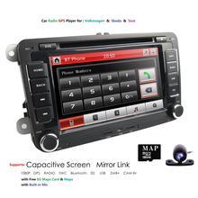 "2DIN 7""Car DVD Navigation for VW PASSAT B5 MK5 GOLF MK3 IV MK4 Polo  T5 BORA  Sharan SEAT CORDOBA IBIZA 6L SWC DVR Russian,ET"