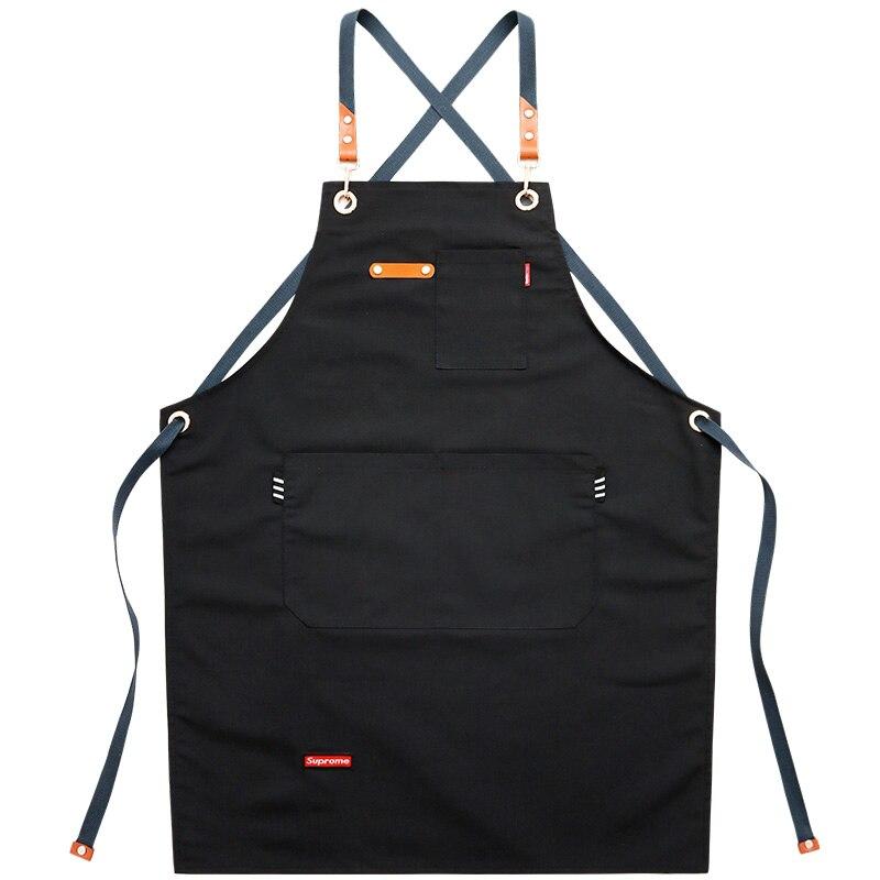Новый Кухонный Фартук для шеф-повара, для женщин и мужчин, с карманами для инструментов, сверхмощный гриль, фартуки для барбекю Professional для ку...