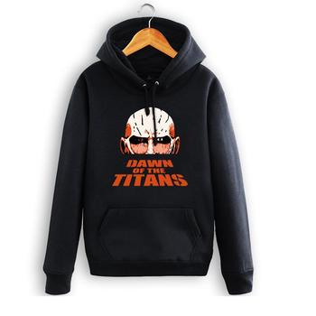 High-Q Unisex Anime Attack on Titan Armored Titan pullover Hooded Hoodie couple Attack on Titan Armored Titan jacket Sweatshirt фото