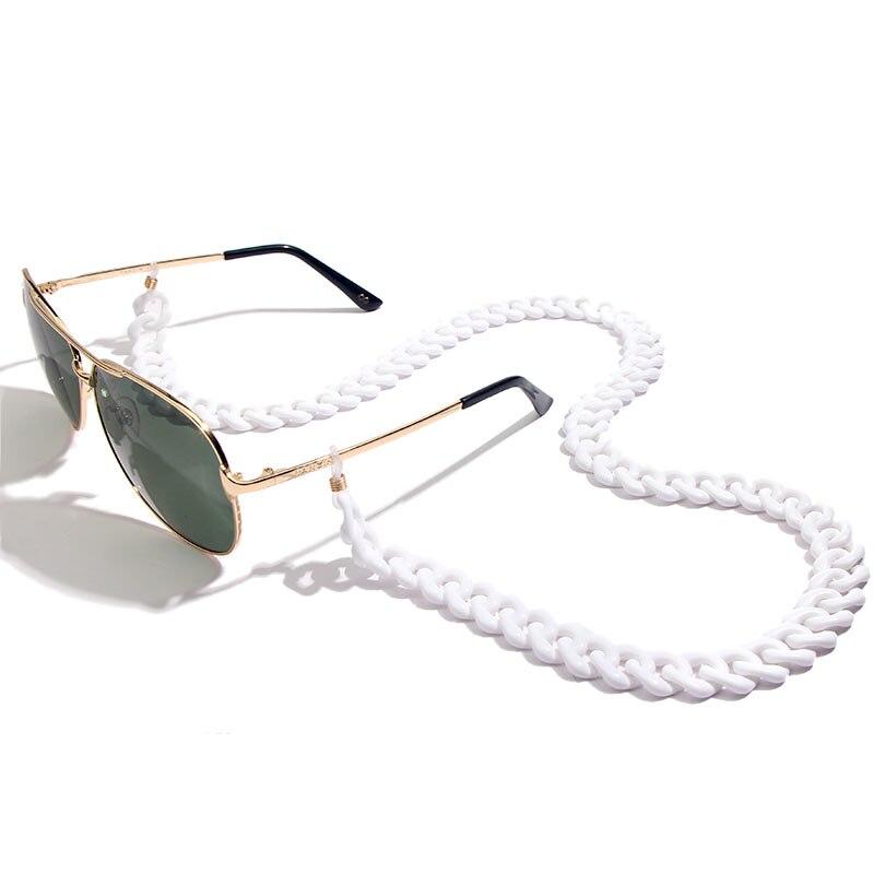 Flatfoosie модная акриловая цепочка для солнцезащитных очков цепочка для очков для чтения подвесной держатель для шеи ремешки с петлей аксессуары для очков 68 см - Цвет: 05W