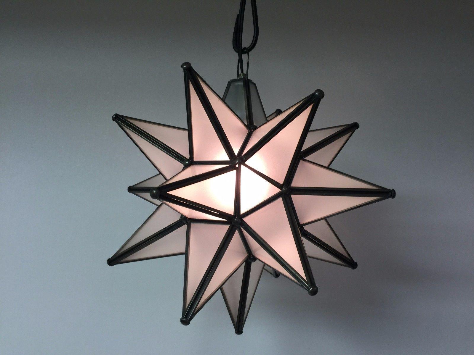 Star Glass Pendant Light