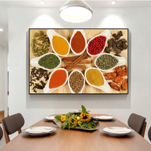 Herbs and Spices in Cooking Canvas Paintings On the Wall Art Posters And Prints Kitchen theme Art Pictures Cuadros Decoration kitchen theme wall poster and prints various seasonings canvas art paintings on the wall canvas art pictures cuadros decoration