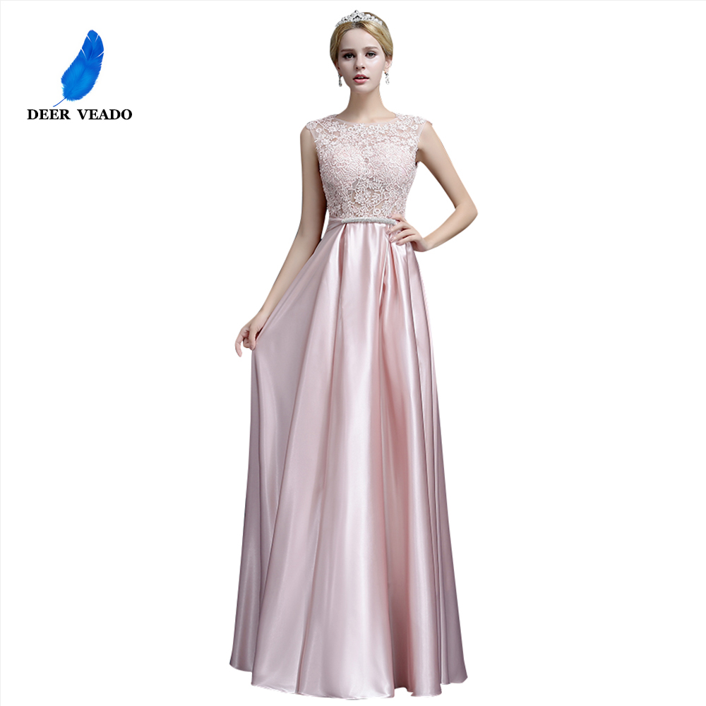 DEERVEADO A-Line Elegant Plus Size Evening Dresses Long Prom Dresses 2019 Evening Gowns Formal Party Dress Robe De Soiree S306