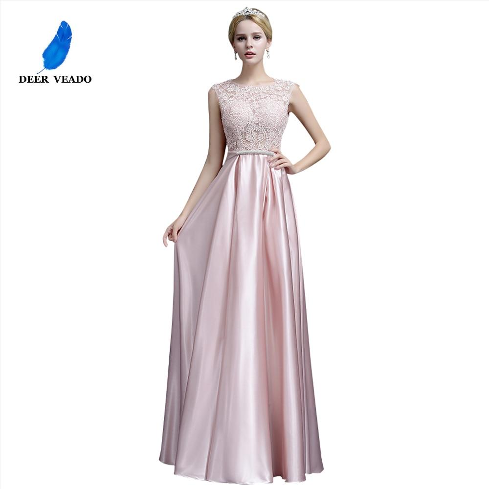 DEERVEADO A-Line Elegant Plus Size Evening Dresses Long Prom Dresses Evening Gowns Formal Party Dress Robe De Soiree S306