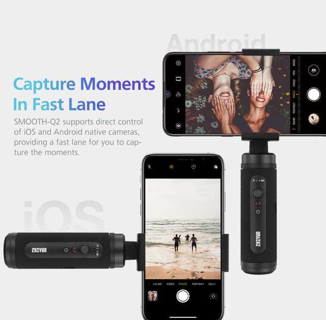 ZHIYUN SMOOTH Q2 Pocket-size mobile Gimbal for Smartphone  3-Axis Vlog Handheld Stabilizer New Arrival