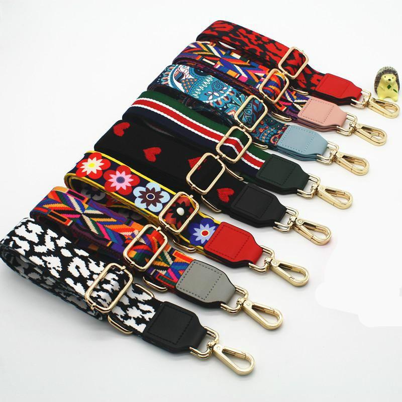 Top SaleRainbow Adjustable Bag Strap Handbag Belt Wide Shoulder Bag Strap Replacement Strap Accessory