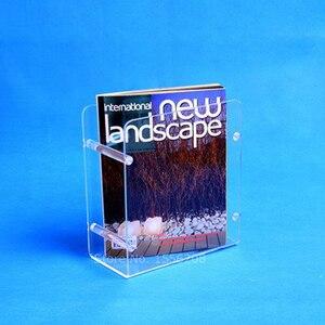 Eenvoudige acryl desktop storage rack plank bestand tijdschrift kantoor rack briefpapier brochure organizer houder promotie