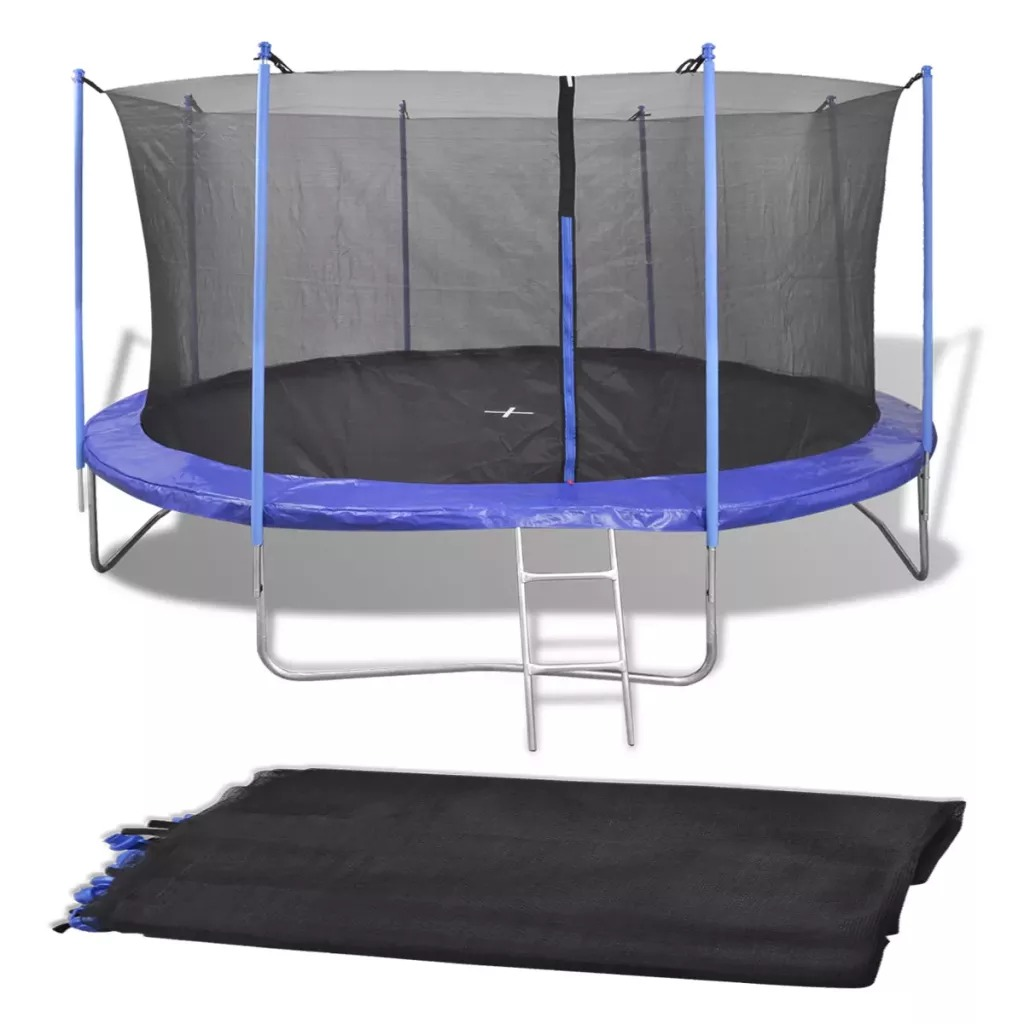 VidaXL Safety Net Outdoor Replacement Trampoline Bounce Safety Net For Round Fitness Equipment General Round Frame Trampoline