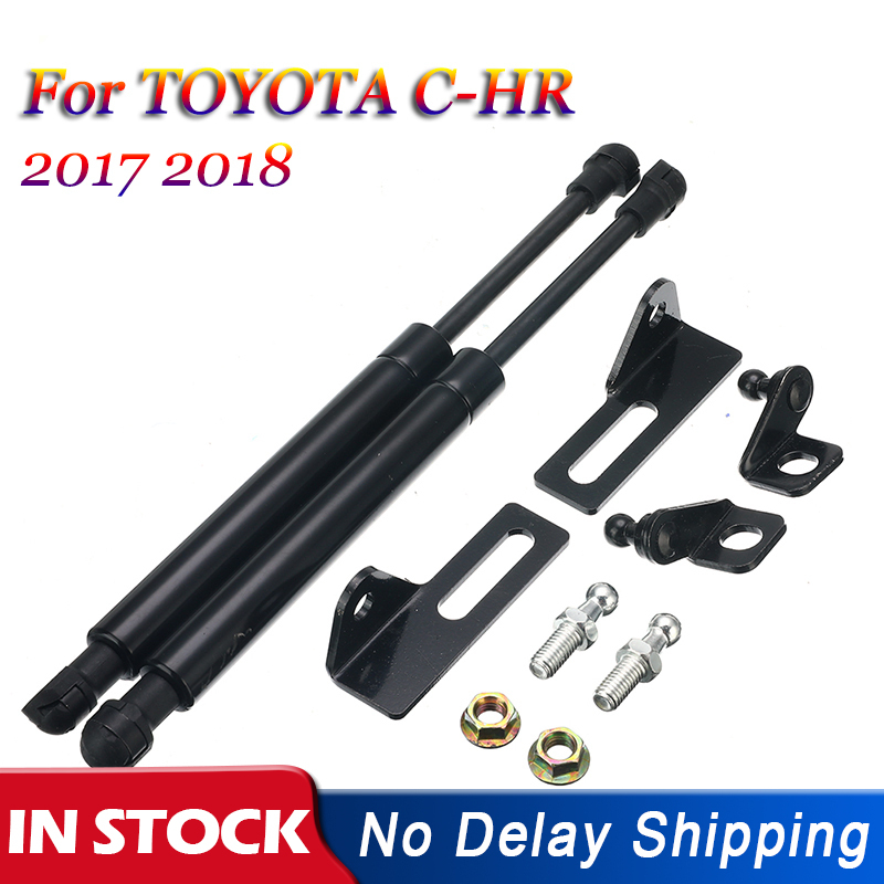 Front Hood Gas Strut Damper Lift Strut Support Rod Hydraulic Hood Jackstay For TOYOTA CHR C-HR 2017 2018 Car Accessories