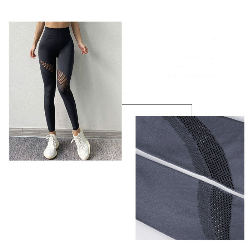 PRYDYC Fitness Hollow Yoga Pants Gym Leggings Sport Women Quick dry Compression Tight Running Sport Leggings Gym Clothing Women in Yoga Pants from Sports Entertainment