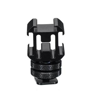 Image 2 - 3in1 Cold Shoe Mount Adapter Tripod Extension Bracket Holder for DJI OSMO Mobile 2 for Zhiyun Smooth 4 to Microphone Fill Light