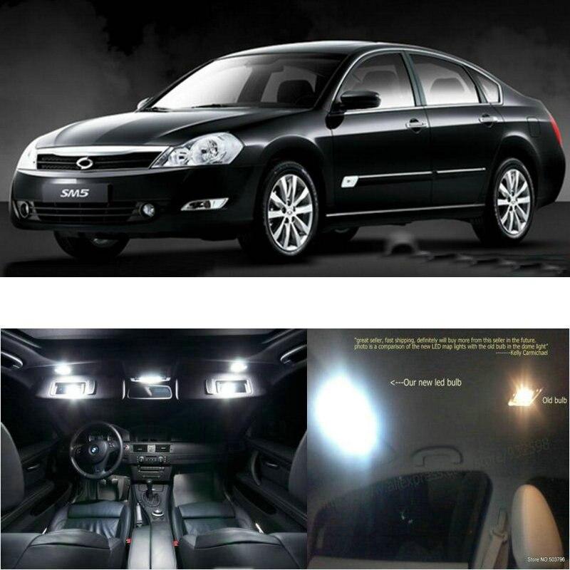 LED intérieur voiture lumières pour Renault sm5 impression salle dôme carte lecture pied porte lampe sans erreur 13pc