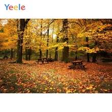 Yeele Autumn Forest Tree Maple Leaf Natural Scenery Photography Backdrops Custom Vinyl Photographic Background For Photo Studio