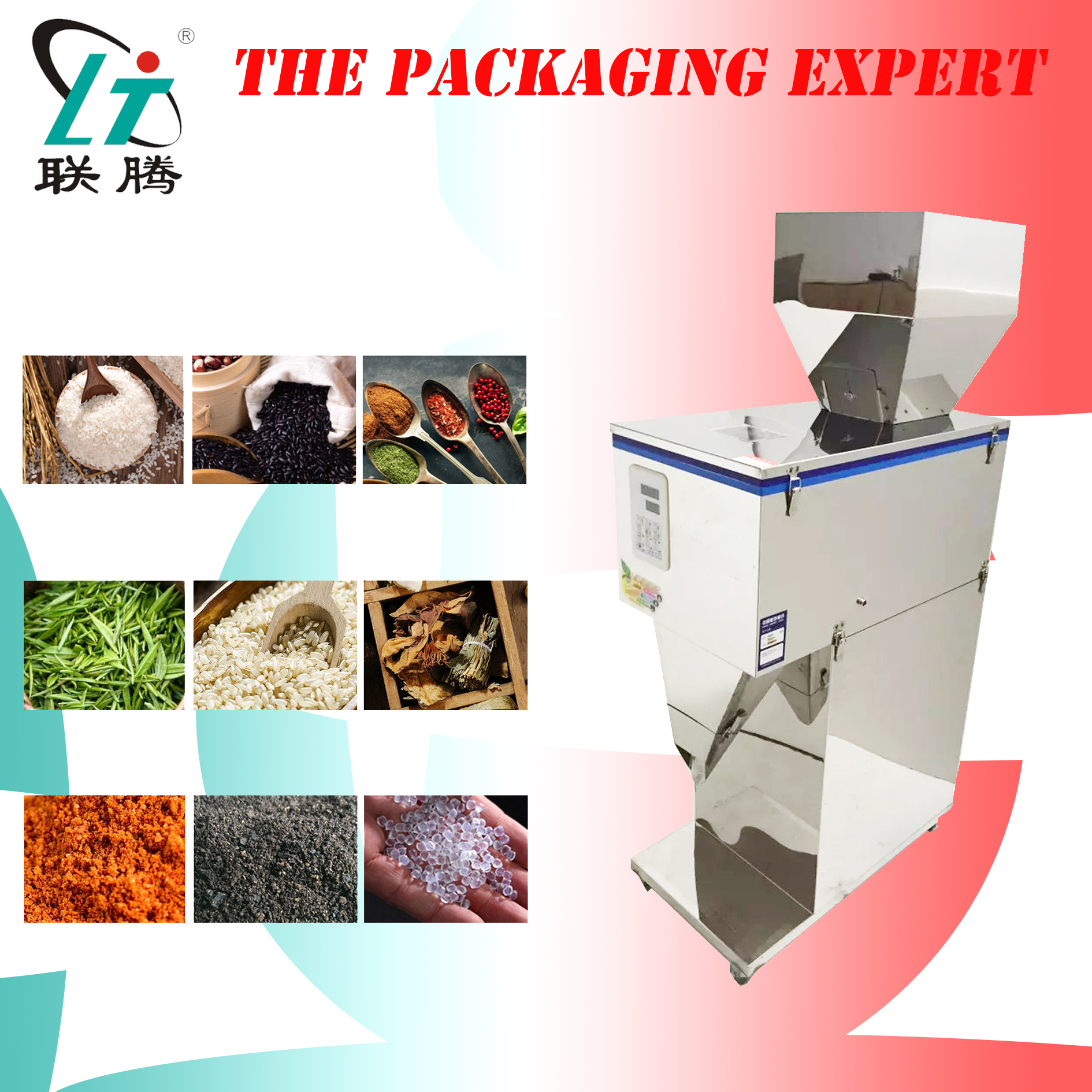 Racking Machine Weight And Filling Machine Coffee Beans Filler Tea Leaf Grain Seed Salt Rice Racking Machine Milk Powder Paticle
