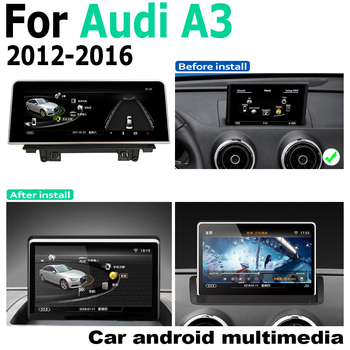 Android screen For Audi A3 8V 2012~2016 MMI 8 touch display GPS Navigation radio stereo head unit multimedia player image
