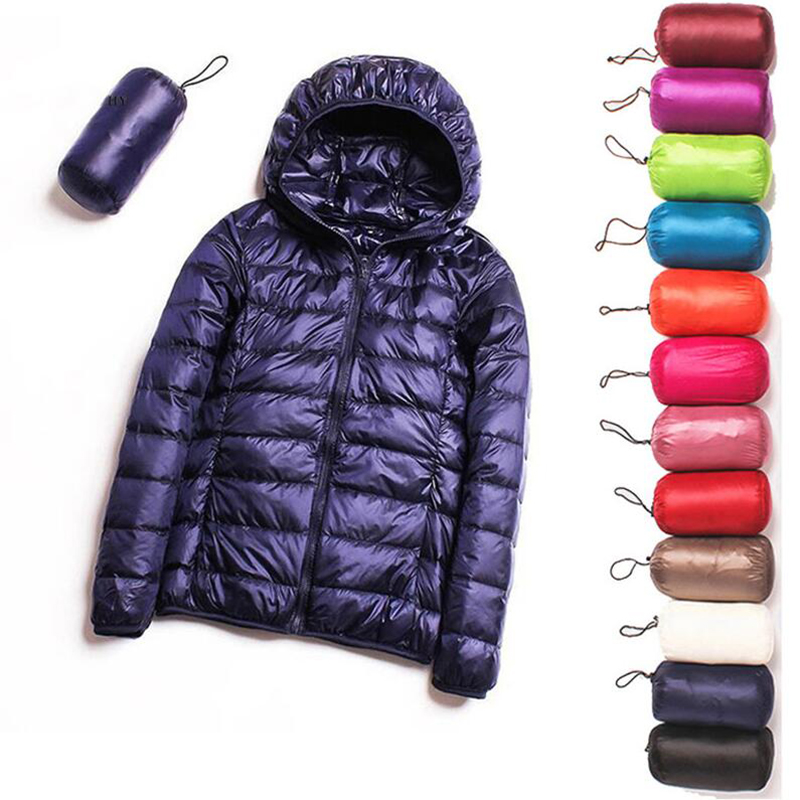 2020 New Spring Down Jacket Women 90% White Duck Down Coat Ultra Light Warm Coat Female Portable Plus Size Down Jacket Winter
