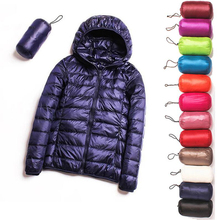 2020 New Spring Down jacket Women 90% White Duck Down Coat Ultra Light Warm Coat Female Portable Plus Size Down Jacket Winter