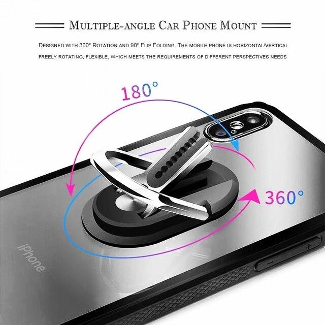 Multipurpose Mobile Phone Bracket Holder 360 Degree Car Air Vent Grip Mount Stand Rotation Magnetic Finger Ring Phone Holder 10