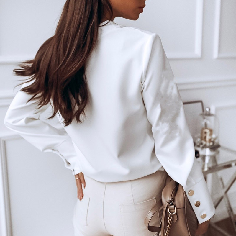 Hb315a2eedf224d9a88068f25bf634110J - Elegant White Blouse Shirt Women's Long Sleeve Buttton Fashion Woman Blouses Womens Tops and Blouses Solid Spring Tops