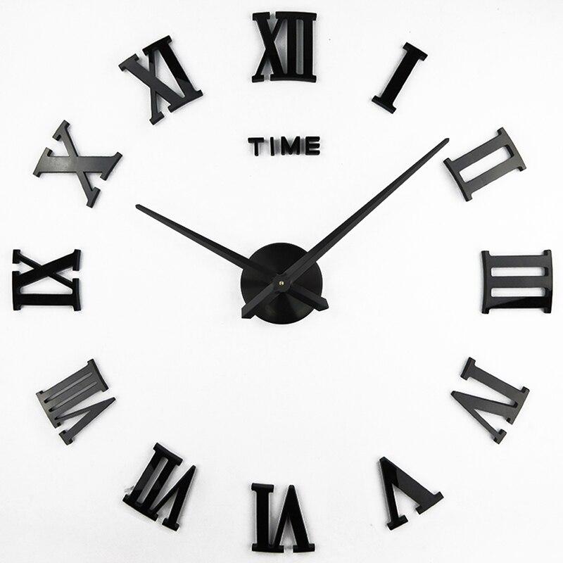 New Roman Mirror 3D Real Big Wall Clock Promotion Home Decor Large Quartz Clocks Fashion Watches Fashion Modern Free Shipping