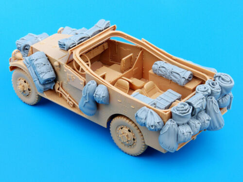 1/35  M3A1 Car Accessories Set (NO CAR ) Resin Figure Model Kits Miniature Gk Unassembly Unpainted