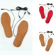 1Pair USB Heating Shoe Pad Unisex Outdoor Sports Ski Heated Insoles Recycled Use