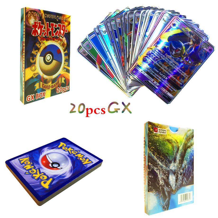 42 шт. GX Мега Сияющий TAKARA TOMY карточная игра Покемон битва карт торговые карты игра детская игрушка - Цвет: 20pcs GX
