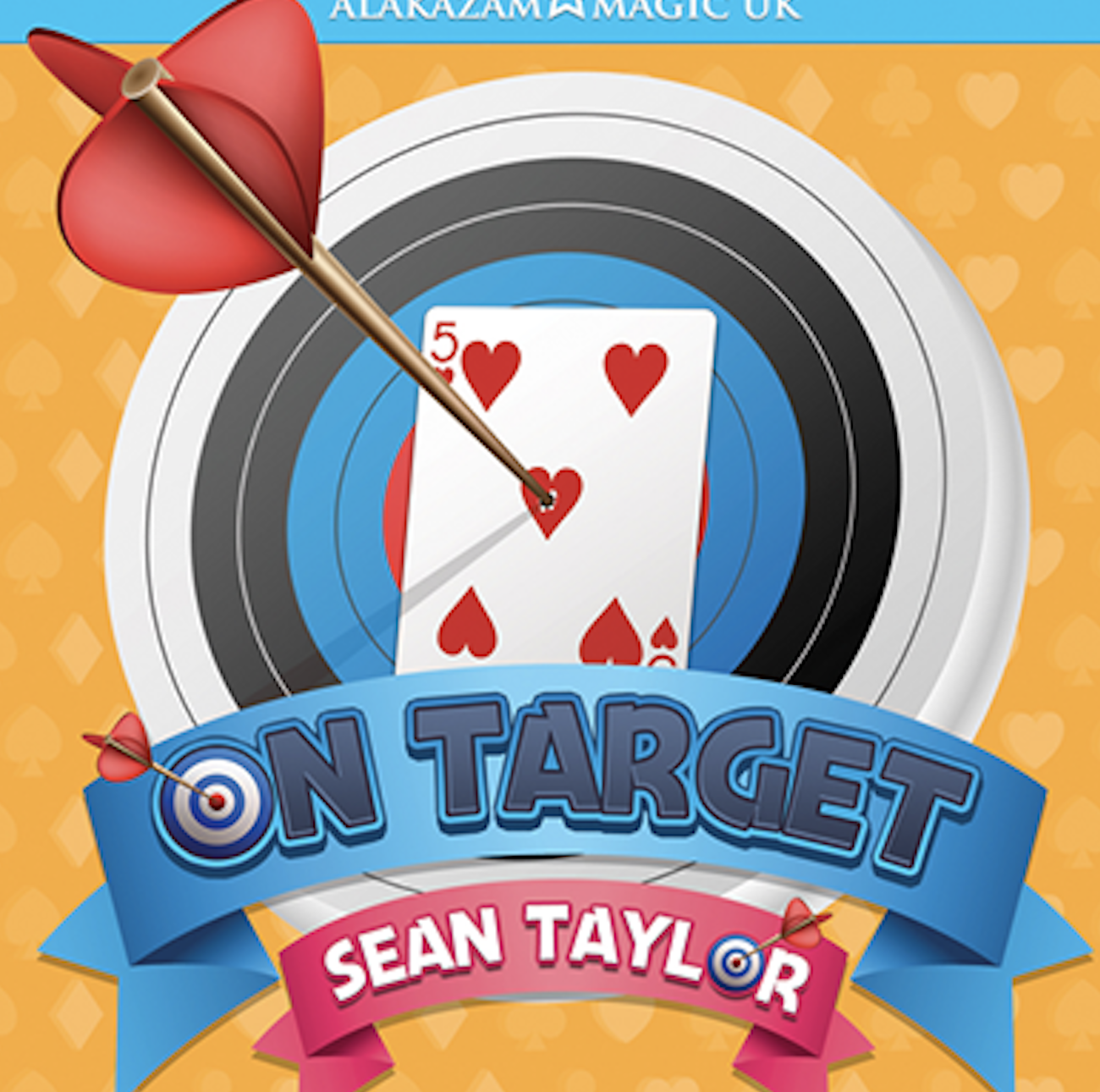 On Target By Sean Taylor (Gimmicks And Online Instructions) Card Magic And Trick Decks Close Up Magic Props Magician Prediction