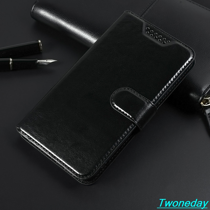 Luxury Leather Case For Blackview A60 Pro A60Pro A80 Pro Classical Black Flip Stand Wallet Cover For <font><b>Oukitel</b></font> C4 <font><b>K12</b></font> U20 Plus image