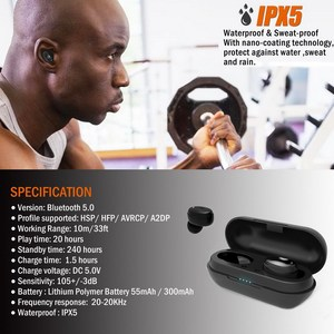 Image 5 - [improved] TENNMAK True Wireless Earbuds TWS06   Bluetooth 5.0 Stereo Hi Fi Sound with Deep Bass Wireless Earphones