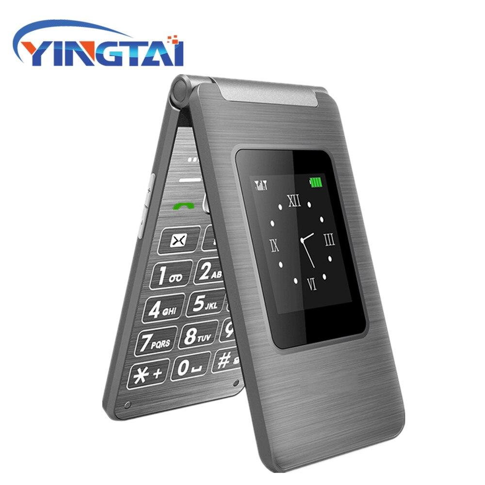 Dual-Screen Flip Mobile Handy 2,8 zoll MTK Dual SIM Karte GSM FM Bussines Clamshell Handy telefone Große Tastatur