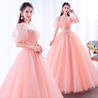 Bubble Ball Gown Princess Quinceanera Dresses Girls Flowers Masquerade Sweet 16 Dresses Prom Party Gown vestidos de 15 anos